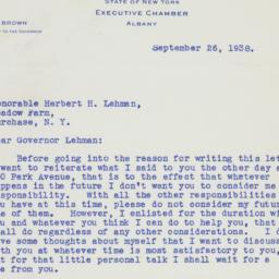 Letter : 1938 September 26