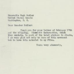 Letter: 1951 February 20
