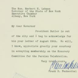 Letter: 1934 August 31