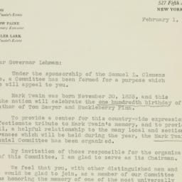 Letter: 1935 February 1