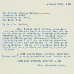 Letter : 1940 January 25