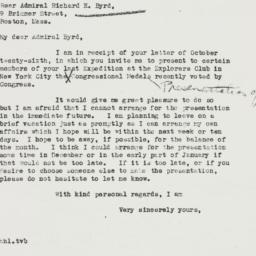 Letter : 1937 November 1