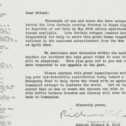 Letter : 1952 April 25