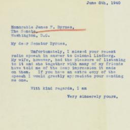 Letter : 1940 June 8