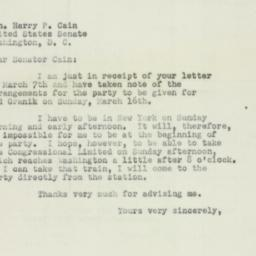 Letter : 1952 March 11