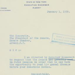 Letter : 1930 January 1