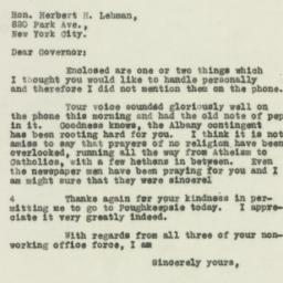 Letter : 1930 April 18