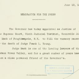 Press Release: 1930 June 13