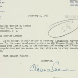 Letter : 1952 February 5
