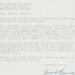 Letter : 1958 December 26