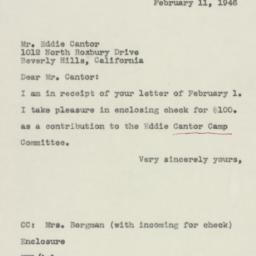 Letter : 1946 February 11