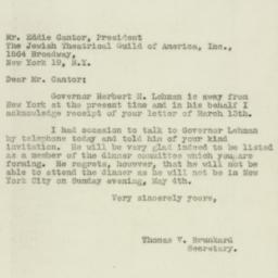 Letter : 1947 March 15