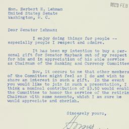 Letter: 1953 February 9