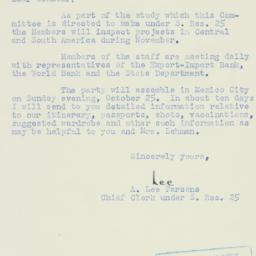 Letter : 1953 August 6