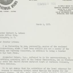 Letter: 1954 March 4