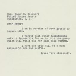 Letter: 1954 August 14