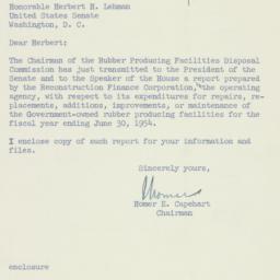 Letter: 1954 August 19