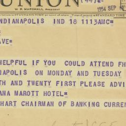 Telegram: 1954 September 18