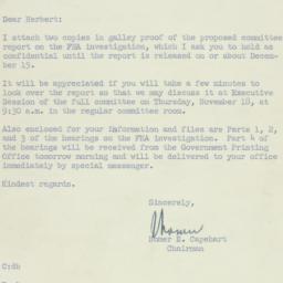 Letter: 1954 November 15