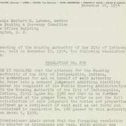 Letter: 1954 November 22