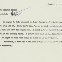 Memorandum: 1955 January 31