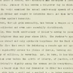 Speech: 1943 January 31