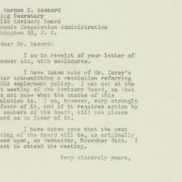 Letter : 1948 November 5