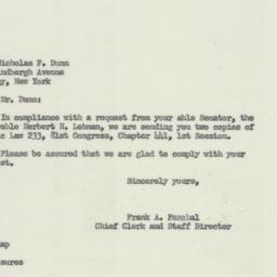 Letter : 1953 November 30