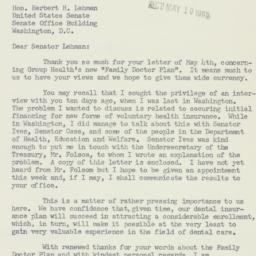 Letter : 1955 May 9