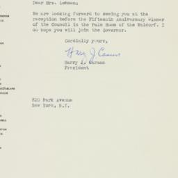 Letter : 1948 November 26