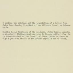 Memorandum : 1948 February 27