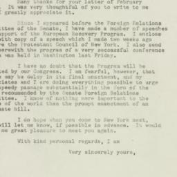 Letter : 1948 March 9