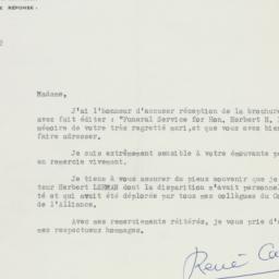 Letter : 1964 December 8
