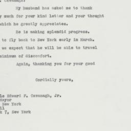 Letter: 1963 February 19