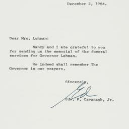 Letter : 1964 December 2