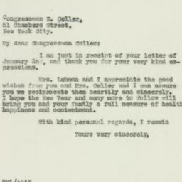 Letter : 1930 January 3