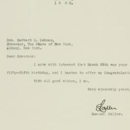 Letter : 1933 March 30