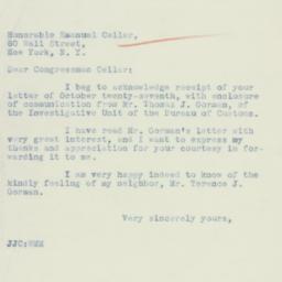 Letter: 1934 November 2