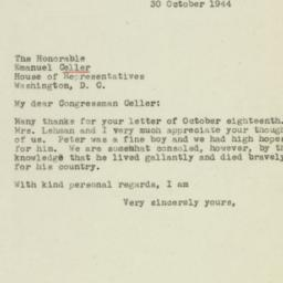 Letter : 1944 October 30