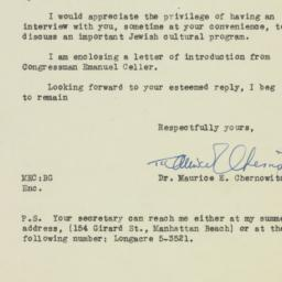 Letter : 1946 August 23