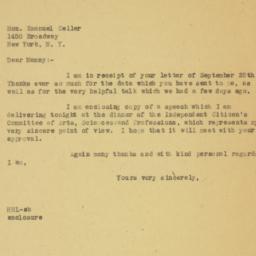 Letter: 1946 September 30