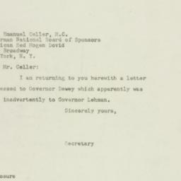 Administrative Record: 1949...