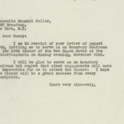 Letter: 1948 August 26