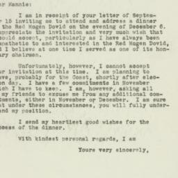 Letter: 1949 September 22