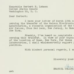Letter: 1950 March 15