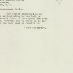 Letter: 1950 October 25