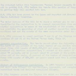 Memorandum : 1950 November 29
