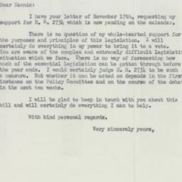 Letter: 1950 November 30