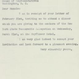 Letter: 1951 February 26