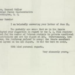 Letter: 1952 July 3